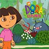 DORA IS LOST IN THE JUNGLE AND THERE ARE A LOT OF STRANGE MONSTER. HELP DORA TO KILL THESE MONSTERS ca vaTHROUGH THE JUNGLE AND JOINED THOSE FRIENDS!